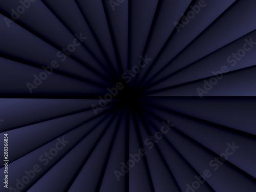 Black angular triangles pattern Fototapet