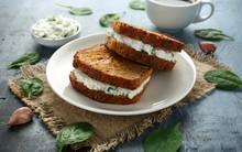 Ricotta Cheese Spinach Sandwic...