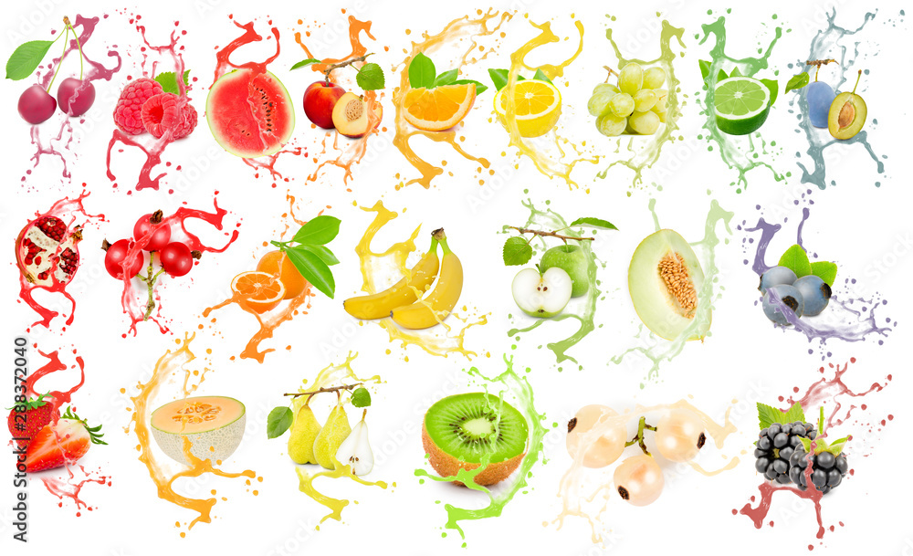 Fototapety, obrazy: Fruit Splash Collection