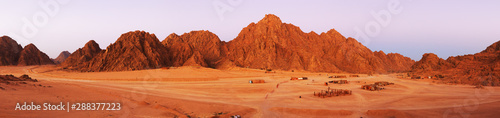 Poster de jardin Brique Red rocks on Sinai