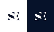 Abstract Letter SE Logo. This ...