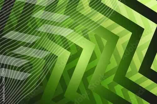 Tuinposter Tropische Bladeren abstract, green, wallpaper, design, wave, illustration, blue, waves, light, graphic, pattern, nature, art, backdrop, texture, curve, lines, line, vector, swirl, decoration, web, white, motion, color