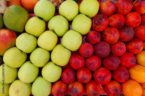 Detail of  fruit stall at the open air market - 288387489