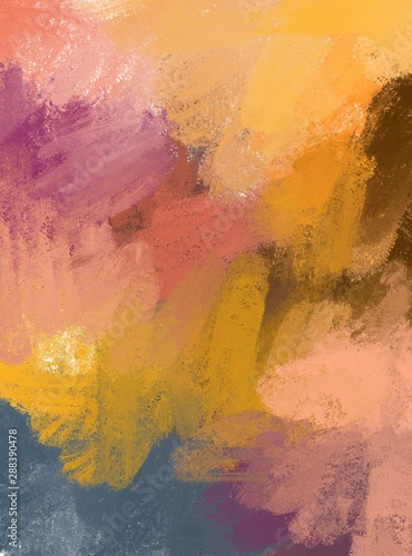 Obraz Colorful abstract background. Smears of multi-colored paints.  - fototapety do salonu