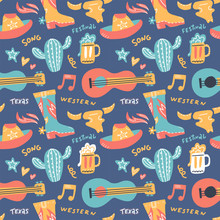Seamless Pattern With Country ...