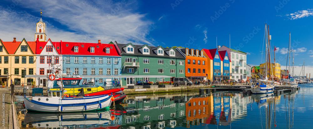 Fototapety, obrazy: Torshavn city - the capital of The Faroe Islands, Denmark.