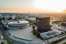 Aerial Drone View Of Katowice ...