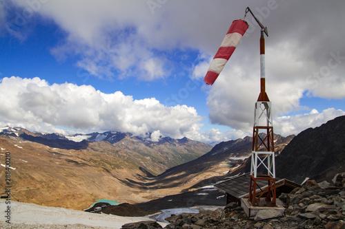 Trekking adventure in South Tyrol on the frontier to austrian ötztal alps were t Poster Mural XXL