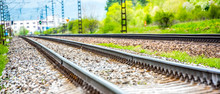 Railroad Track Rails In Coutry...