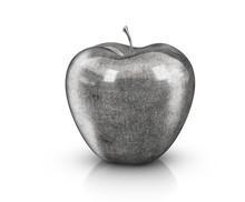 Metal Apple - 3D Illustration ...