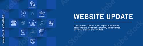 Fototapeta Website Update Icon Set with Web Header Banner