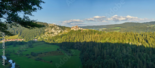 Photo Panoramic View Of Chateau de Joux, Fort Mahler and The Surrounding Mountains Lar