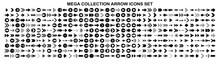 Set Of Vector Arrows. Arrows Black Vector On White Background. Arrow Vector Icon. Arrow Icon. Arrows Collection