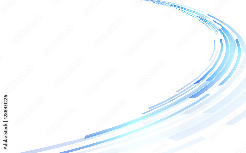 Fototapeta 青い円形の背景
