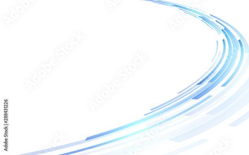 Obraz 青い円形の背景 - fototapety do salonu