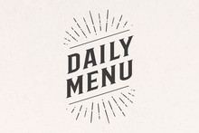 Daily Menu, Lettering. Wall De...