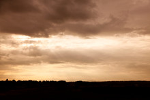 Dramatic Landscape In Backligh...