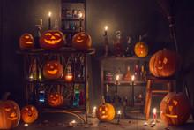 Halloween Decoration With Pump...