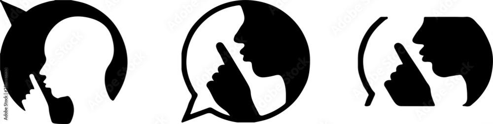 Fototapeta silence icon on white background