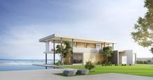 Luxury Beach House With Sea Vi...