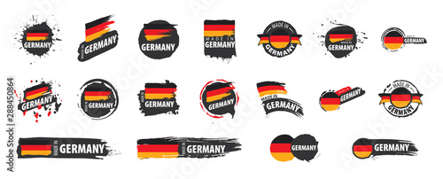 Cuadros en Lienzo Germany flag, vector illustration on a white background