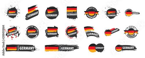 Obraz Germany flag, vector illustration on a white background - fototapety do salonu
