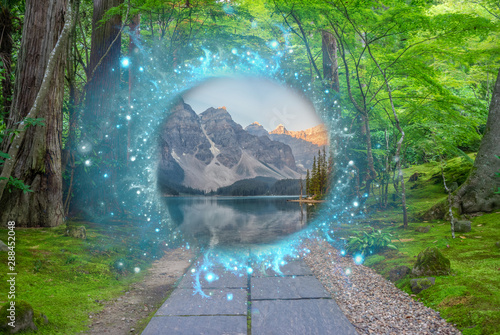Obraz na płótnie Magical portal in between two realities
