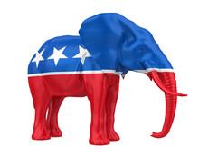 Republican Elephant Illustration Isolated