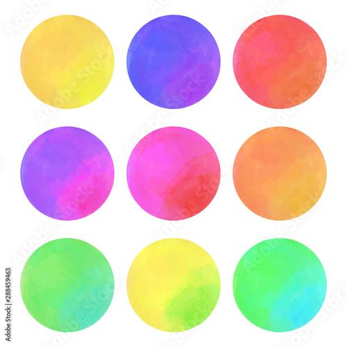 Fotografía Round Color Watercolor Texture Vector