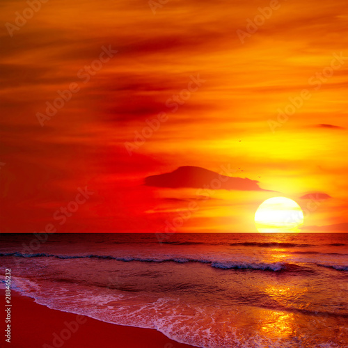 Fototapety, obrazy: Fantastic sunset over ocean