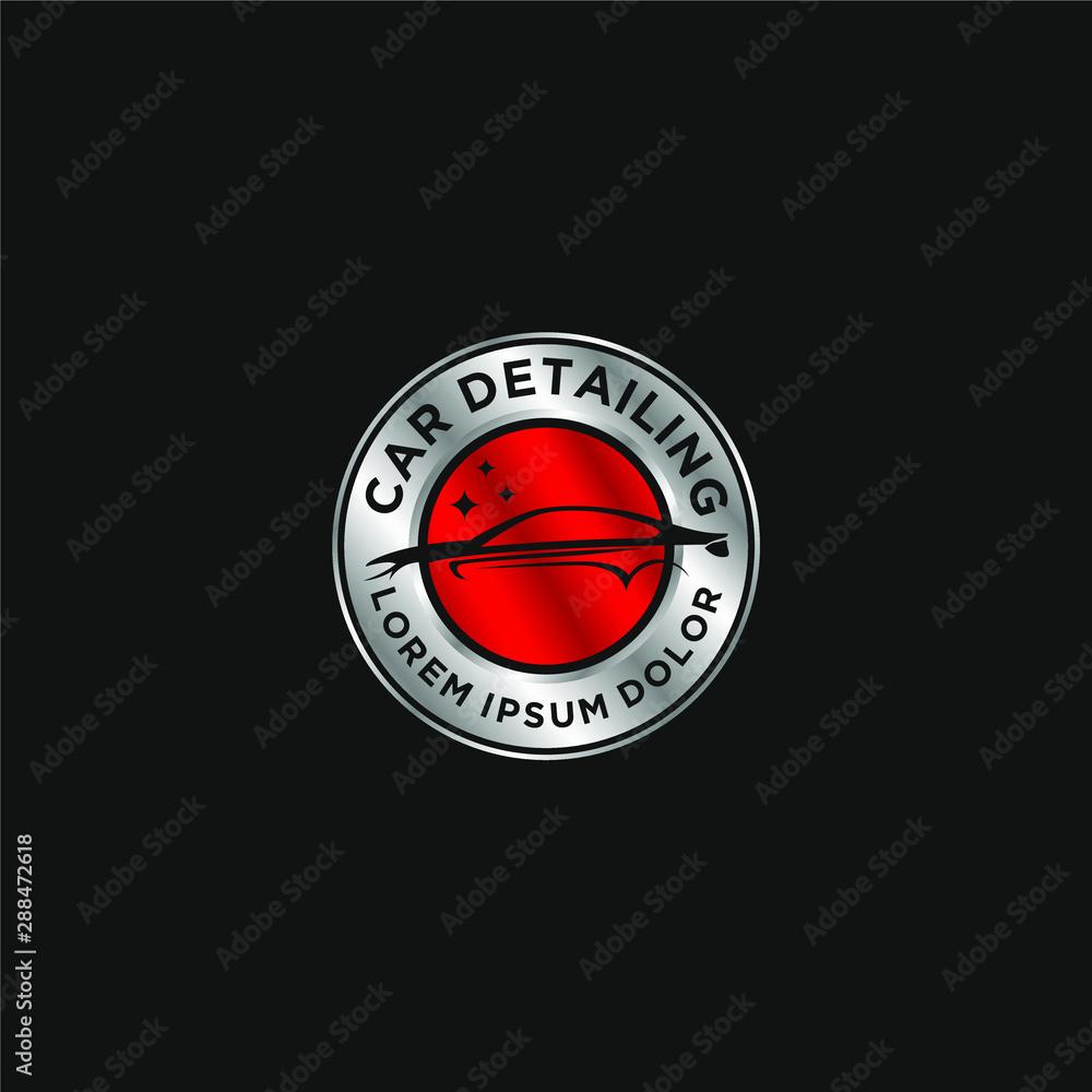 Obraz Car detailing logo - modern automotive garage logo fototapeta, plakat