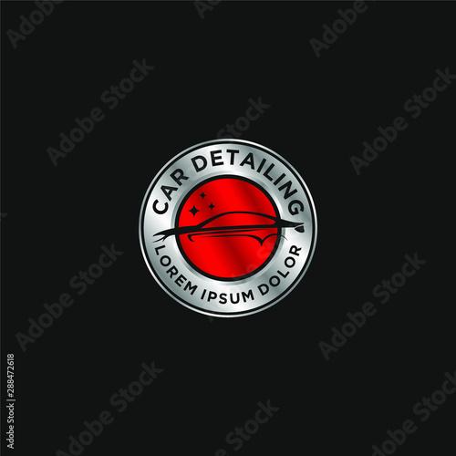 Fototapeta Car detailing logo - modern automotive garage logo obraz