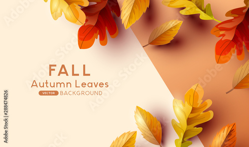 Poster Wall Decor With Your Own Photos Autumn Fall Background Design