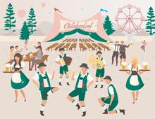 Oktoberfest Flat Vector Illust...