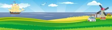 Countryside Seaside Vector Pan...
