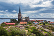 canvas print picture - Blick auf die Stadt Lysekil in Schweden