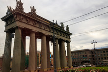 Moscow Triumphal Gate Is A Neoclassical Triumphal Arch In Saint Petersburg, Russia