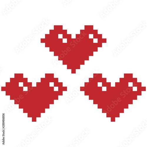 Cadres-photo bureau Pixel heart vector graphic clipart