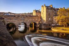 Bath, UK - Pulteney Bridge And...