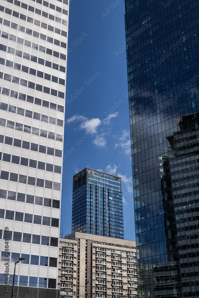 Fototapeta Downtown Skyscraper Towers Modern Abstract Architecture