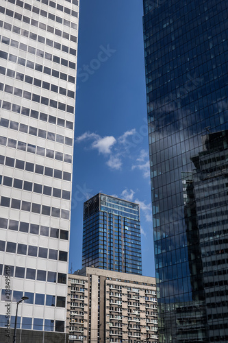 fototapeta na lodówkę Downtown Skyscraper Towers Modern Abstract Architecture