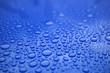canvas print picture - Closeup blue car paint surface with hydrophobic ceramic coating