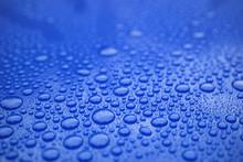 Closeup Blue Car Paint Surface...