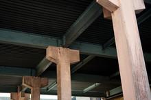 Strong Concrete Pillars In Row