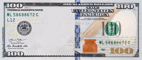 Fotomural  U.S. 100 dollar border with empty middle area