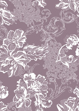Romantic Floral Lace Seamless Pattern