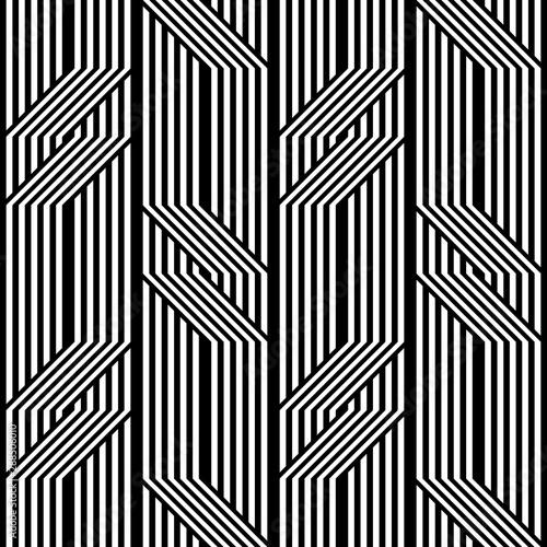 Fototapeten Künstlich Design seamless monochrome zigzag pattern
