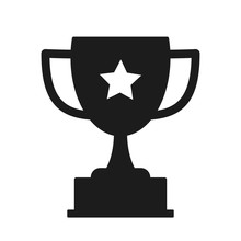 Trophy Icon Vector. The Trophy Is A Symbol Of The Winner Of A Sporting Event.
