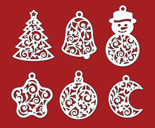 Set Of Christmas Decoration: X...