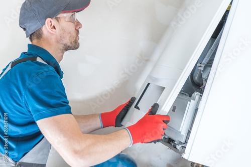 Fototapeta House Heating Unit Repair obraz